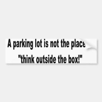 outside the box car bumper sticker