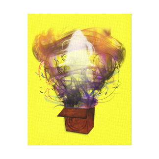 Outside the Box - Inverted (Yellow BG) Canvas Print
