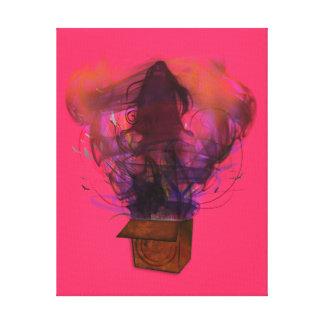 Outside the Box -Original (Pink) Canvas Print