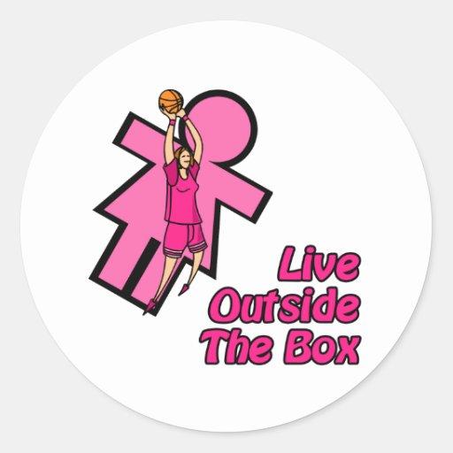 Outside the box sticker
