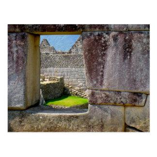 Outside the Incan Window Postcard