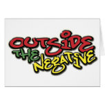 Outside the Negative Brand Paper Merchandise Card