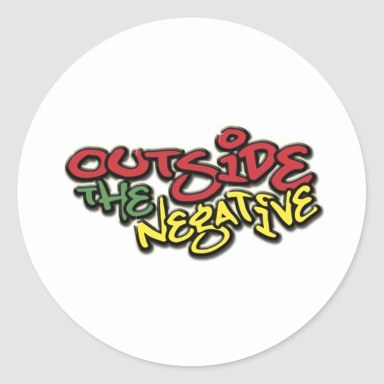 Outside the Negative Brand Paper Merchandise Classic Round Sticker