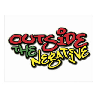 Outside the Negative Brand Paper Merchandise Postcard