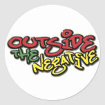 Outside the Negative Brand Paper Merchandise Round Stickers