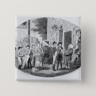 Outside the Old Hats Tavern Pinback Button