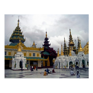 Outside the Shwedagon Pagoda Postcard