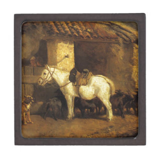 Outside the Stable by Constant Troyon Gift Box