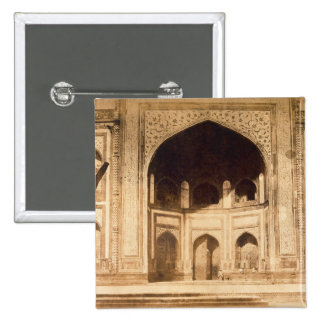 Outside the Taj Mahal, probably illustrated in 'Ph 2 Inch Square Button