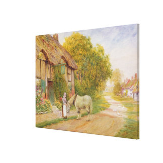 Outside the Village Inn Canvas Print