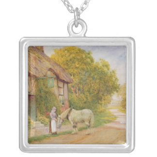 Outside the Village Inn Silver Plated Necklace