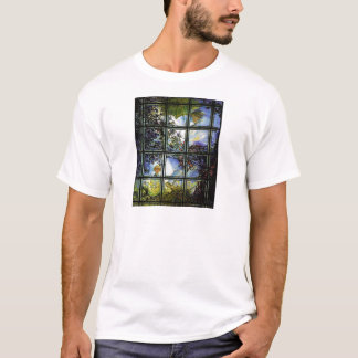 OUTSIDE THE WINDOW WITH UMBRELLA AND SON.jpg T-Shirt