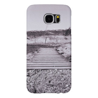 Outside Themed, Black And White Wooden Pathway Cro Samsung Galaxy S6 Case