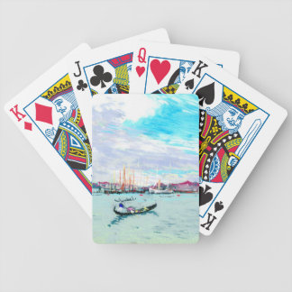 Outside Venice Italy 1901 Bicycle Playing Cards