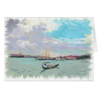 Outside Venice Vintage Pastel drawing Cards