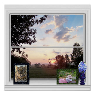 Outside View - Misty Morning Poster
