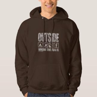 Outside- Where The Fun Is (faded/mens hoodie) Hoodie