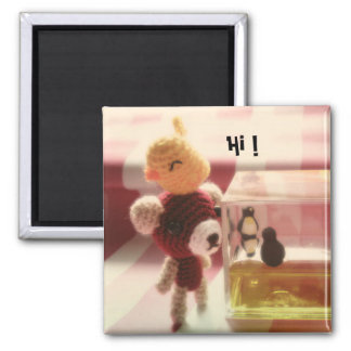 outside world 2 inch square magnet