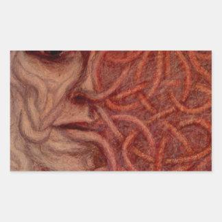 Outsider Art entitled  'For John' Rectangular Sticker