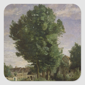 Outskirts of a village near Beauvais, c.1850 Square Sticker