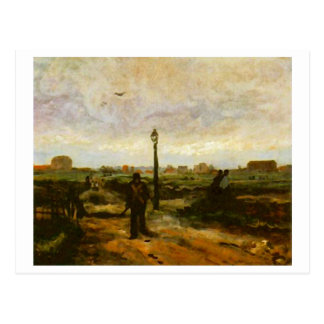 Outskirts of Paris (F264)Van Gogh Fine Art Postcard