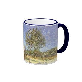 Outskirts of Paris, van Gogh Vintage Impressionism Ringer Mug