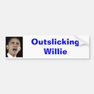 Outslicking Willie Pegatina Para Auto
