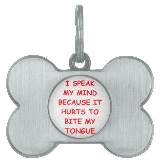 outspoken pet name tags
