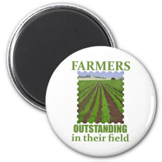 Outstanding Farmers 2 Inch Round Magnet