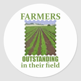 Outstanding Farmers Classic Round Sticker