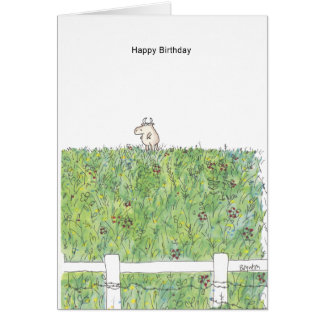 OUTSTANDING IN THE FIELD Boynton Greeting Card