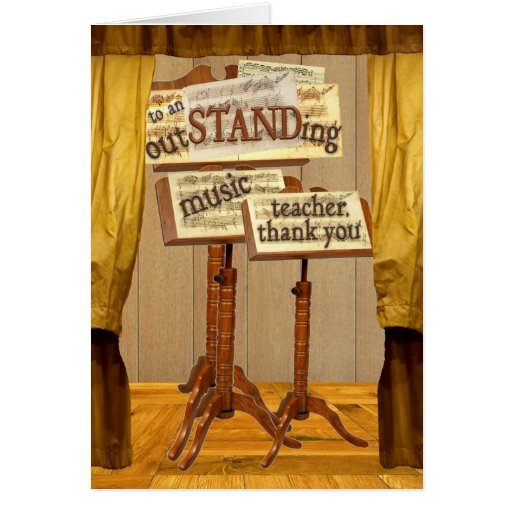 outSTANDing Music Teacher Greeting Cards