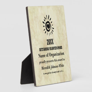 Outstanding Volunteer of the Year Award Display Plaques