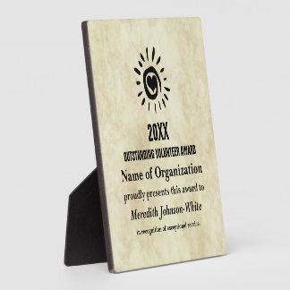 Outstanding Volunteer of the Year Award Plaque