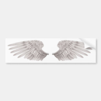 outstretched beautiful white wings bumper sticker