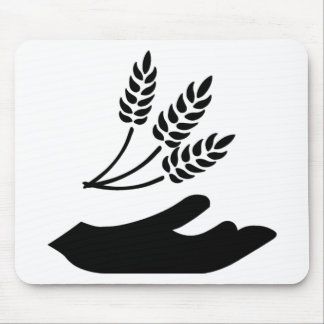 Outstretched Hand and Wheat Mouse Pad
