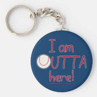 ¡Outta aquí! Béisbol Llaveros Personalizados