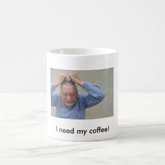 OUTTA CONTROL, I need my coffee! Classic White Coffee Mug
