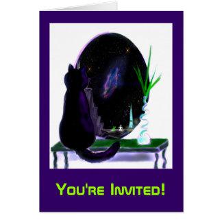 Outta esta invitación del fiesta del mundo tarjeta de felicitación