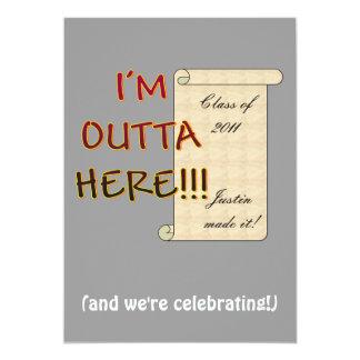 Outta Here Graduate Card