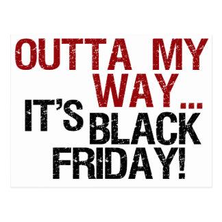 outta mi negro viernes de la manera postal