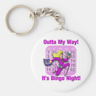 Outta My Way! It's Bingo Night Keychains