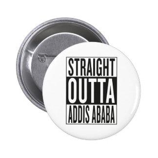 outta recto Addis Ababa Pin Redondo De 2 Pulgadas