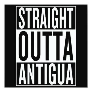 """outta recto Antigua Invitación 5.25"""" X 5.25"""""""
