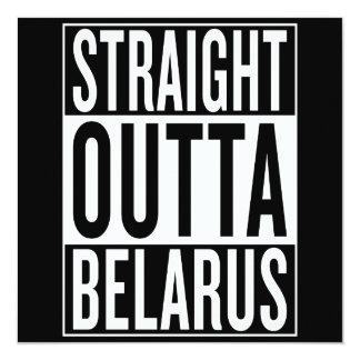 "outta recto Bielorrusia Invitación 5.25"" X 5.25"""