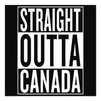"""outta recto Canadá Invitación 5.25"""" X 5.25"""""""