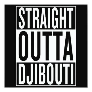 """outta recto Djibouti Invitación 5.25"""" X 5.25"""""""