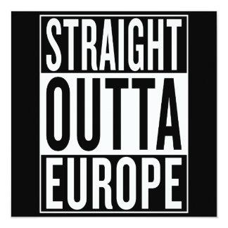 """outta recto Europa Invitación 5.25"""" X 5.25"""""""