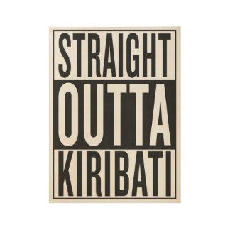 outta recto Kiribati Póster De Madera