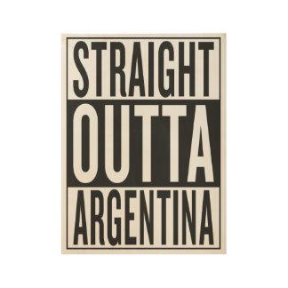 outta recto la Argentina Póster De Madera
